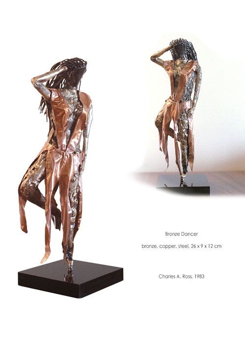 Charles A. Ross metal sculpture Bronze Dancer