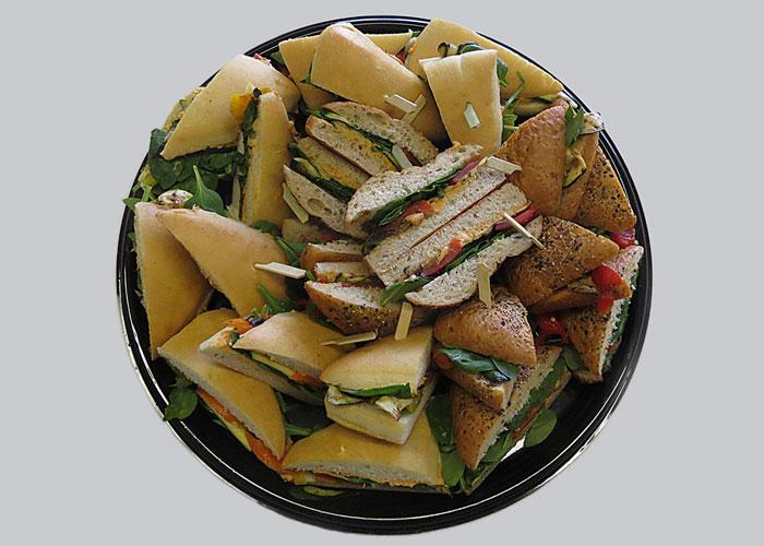 food photography, deli sandwich tray