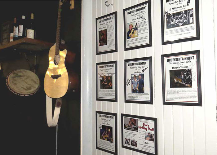 live music show poster wall